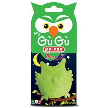 MR GUGU GREEN - Odświeżacz samochodowy o zapachu kwiatowym (sowa)-264