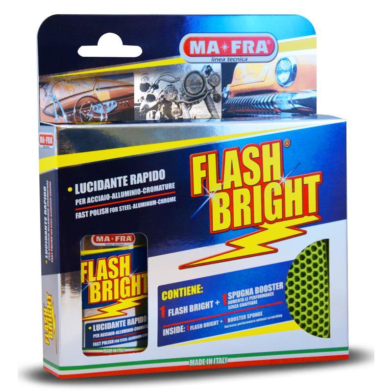 FLASH BRIGHT KIT+ SPONGE - Pasta do polerowania stali nierdzewnej z gąbką-158